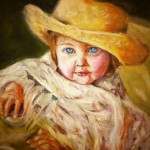 "Child Portrait Painting ""Tea Party"""