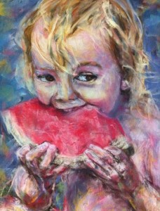 Final picture of Girl with Watermelon