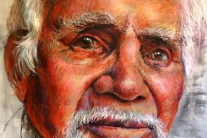 """Maliangappa Man""  by David White (Detail)"