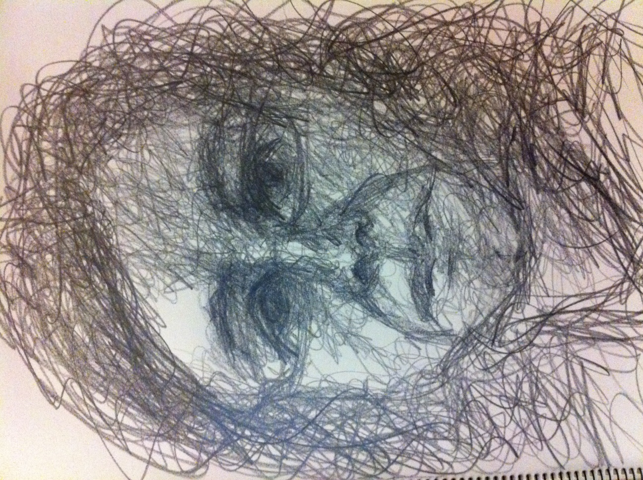 Scribble Drawing Art : Portrait drawing my way workshop loosen up