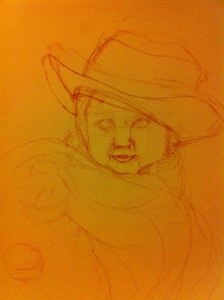 Tea Party preliminary sketch