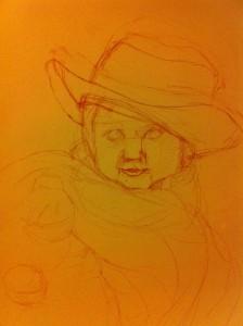 Tea Party preliminary sketch