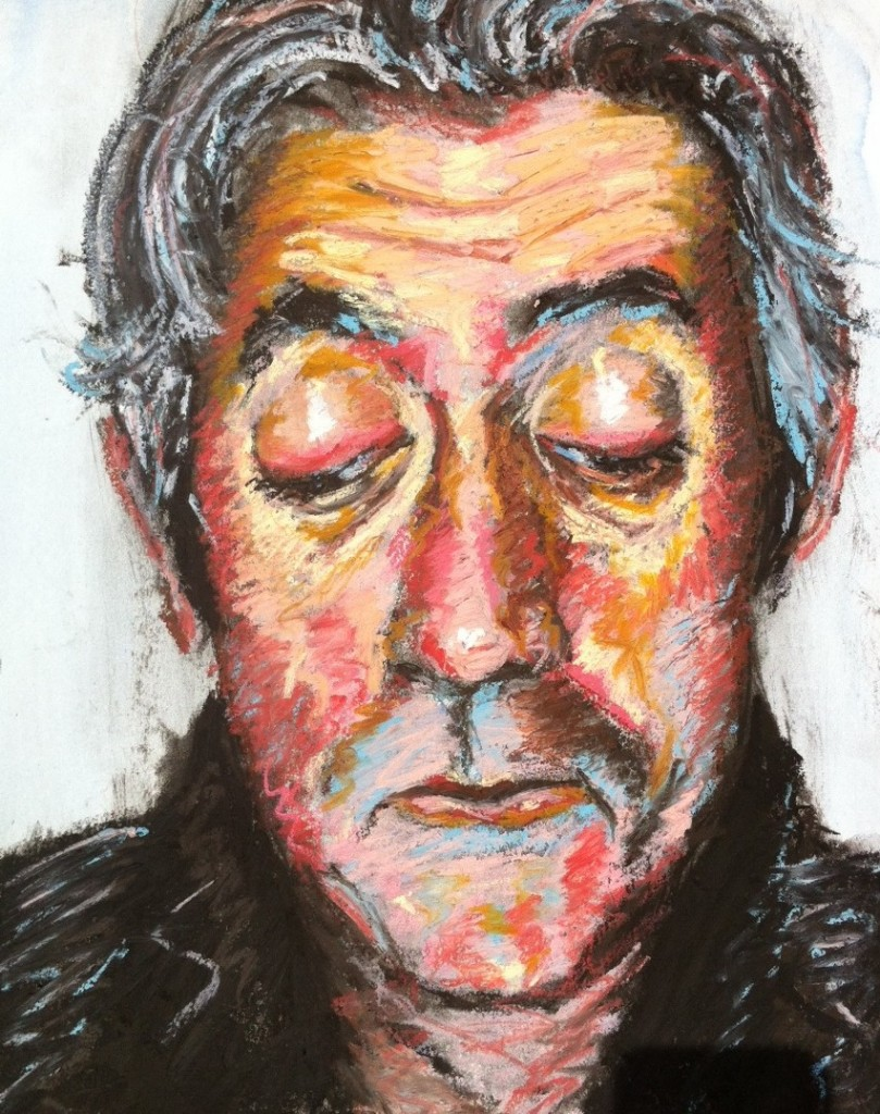 Oil Pastel with underdrawing