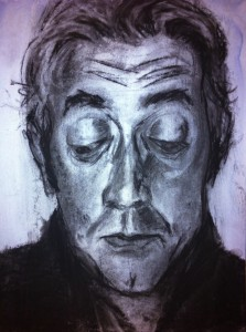 Charcoal drawing with wash