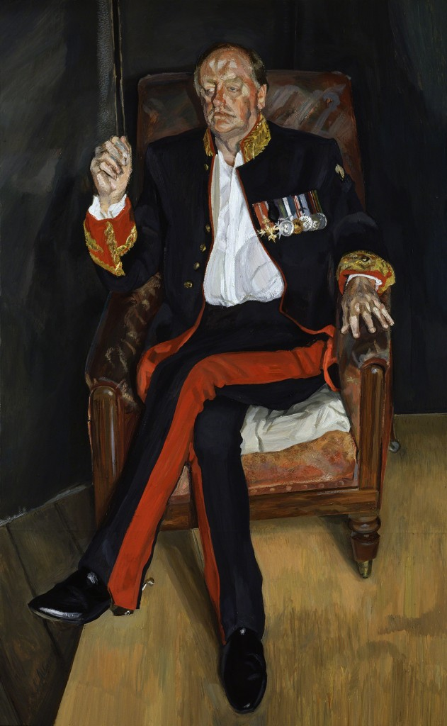 """The Brigadier"" by Lucian Freud"