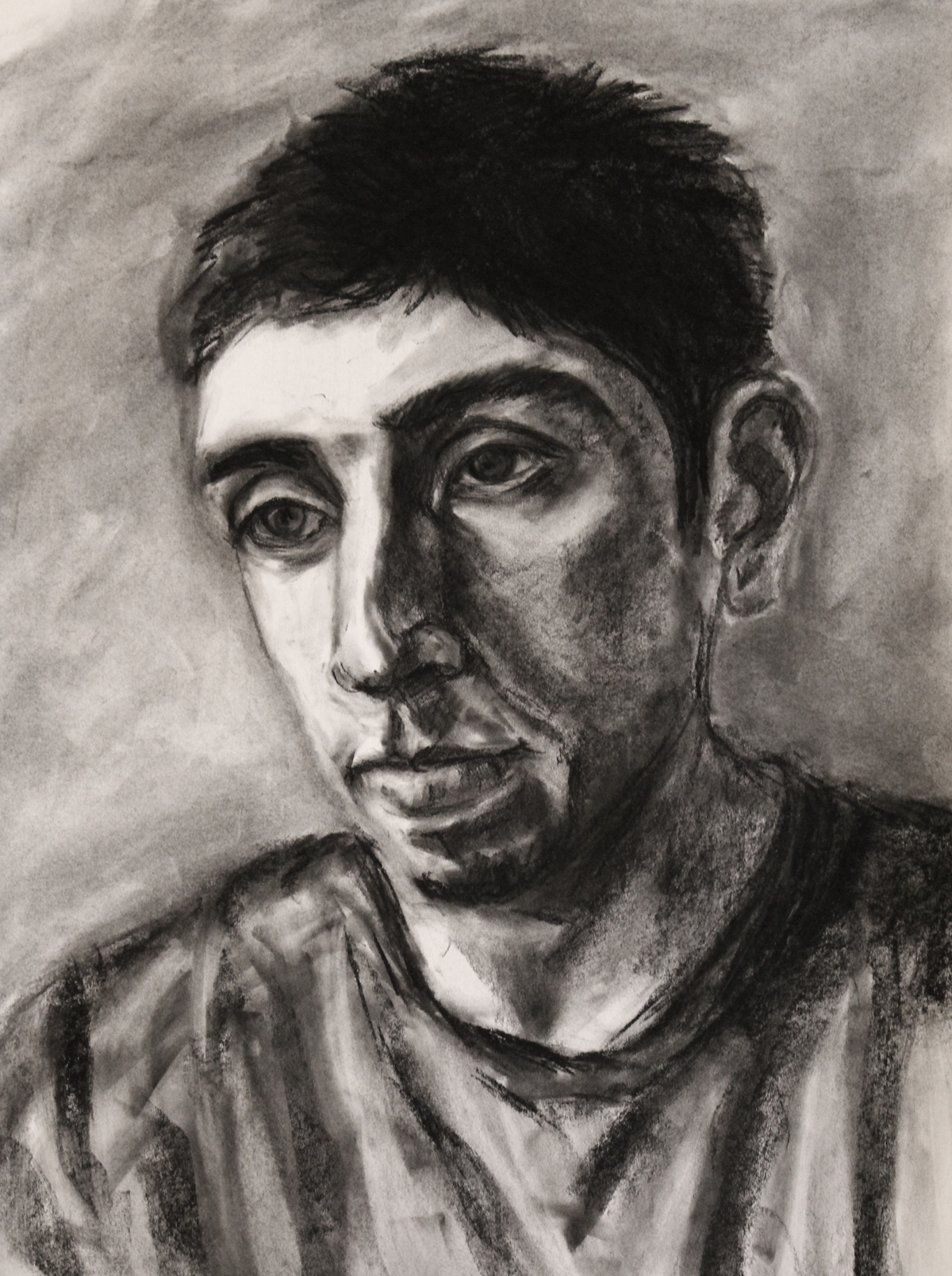 Edgar in charcoal