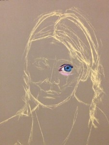 Preliminary sketch and one eye!
